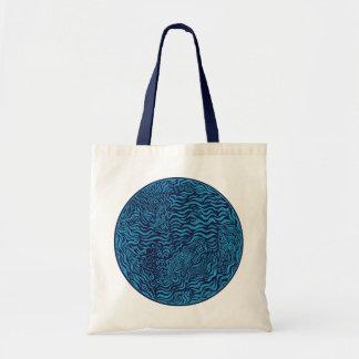 Ocean Family Circle Budget Tote Tote Bags