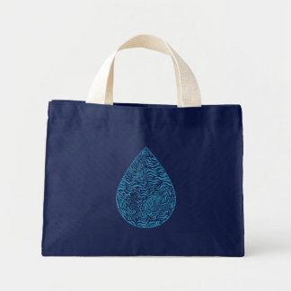 Ocean Family Drop Tiny Tote Canvas Bags