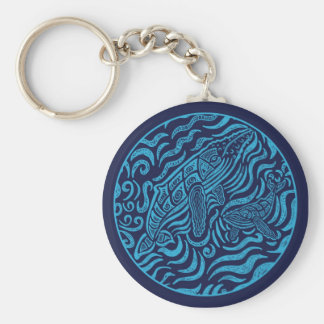 Ocean Family Humpback Whales Keychain