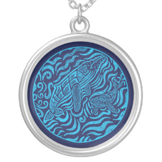 Ocean Family Humpback Whales Necklace