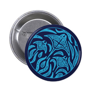 Ocean Family Manta Rays Button