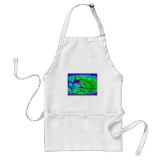 Ocean Fearing Cat Poster --Whimisical Adult Apron