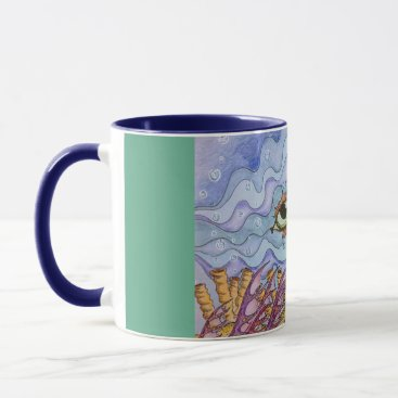 Coffee Themed Ocean fish eyes coffee mug