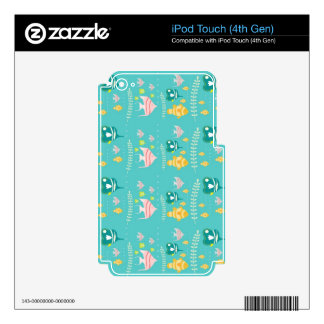 Ocean Fish in the Sea Decals For iPod Touch 4G