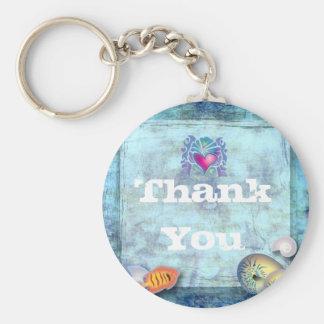 ocean fish seashells island tropical wedding basic round button keychain