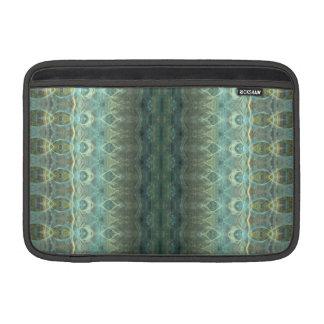 """Ocean Flame Fractal Stripes 11"""" MacBook Sleeves"""
