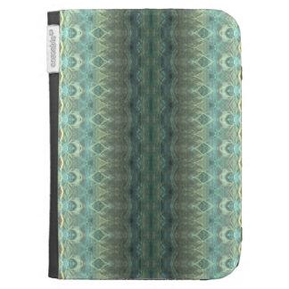 Ocean Flame Fractal Stripes Kindle 3 Cover
