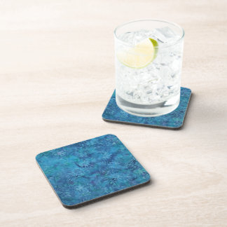 Ocean Floor Batik Beverage Coaster