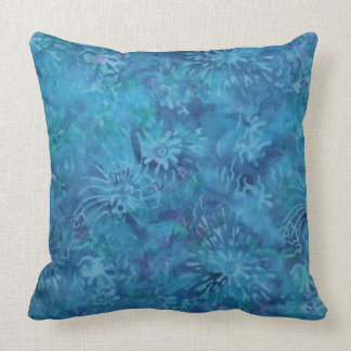 Ocean Floor Batik Throw Pillow