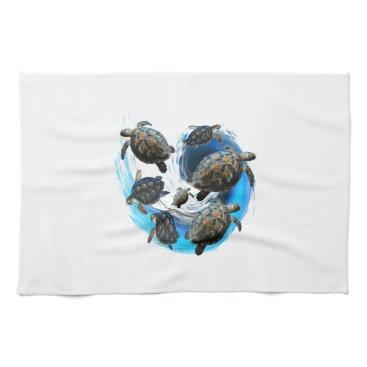 Hawaiian Themed Ocean Flow Hand Towel