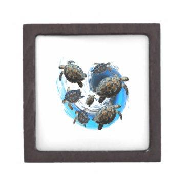 Hawaiian Themed Ocean Flow Jewelry Box