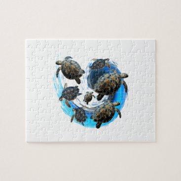 Hawaiian Themed Ocean Flow Jigsaw Puzzle