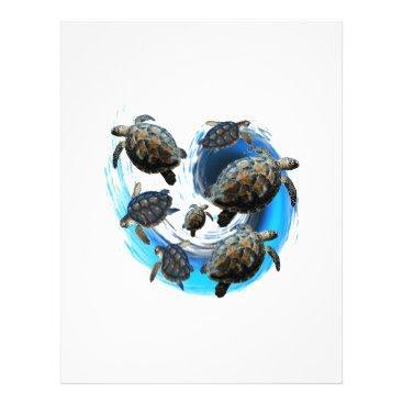 Hawaiian Themed Ocean Flow Letterhead