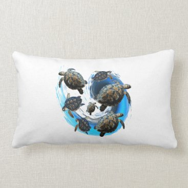Hawaiian Themed Ocean Flow Lumbar Pillow