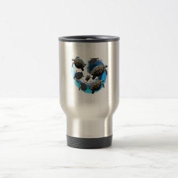 Hawaiian Themed Ocean Flow Travel Mug