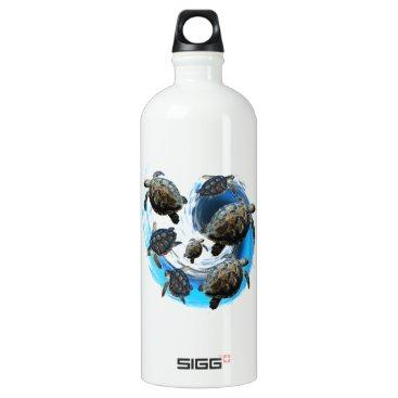 Hawaiian Themed Ocean Flow Water Bottle