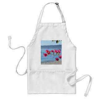 Ocean Flowers Water Boats Beaches Apron