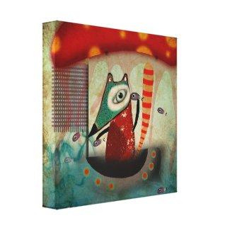 Ocean Fox Canvas wrappedcanvas