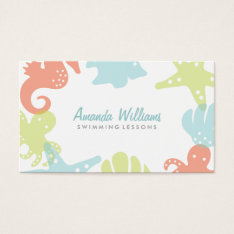 Ocean Friends Swim Lessons Business Cards at Zazzle