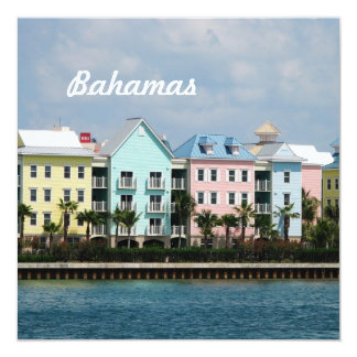 Ocean Front Bahamas 5.25x5.25 Square Paper Invitation Card