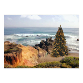Ocean Front Christmas Tree Invitation