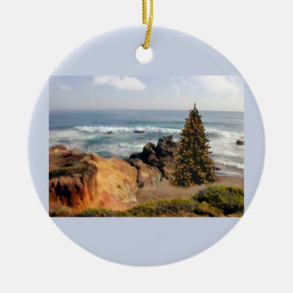 Ocean Front Christmas Tree Christmas Tree Ornament