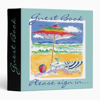 Ocean Front Property Guest Book binder