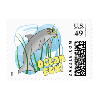 Ocean Fun Dolphin Postage Stamps