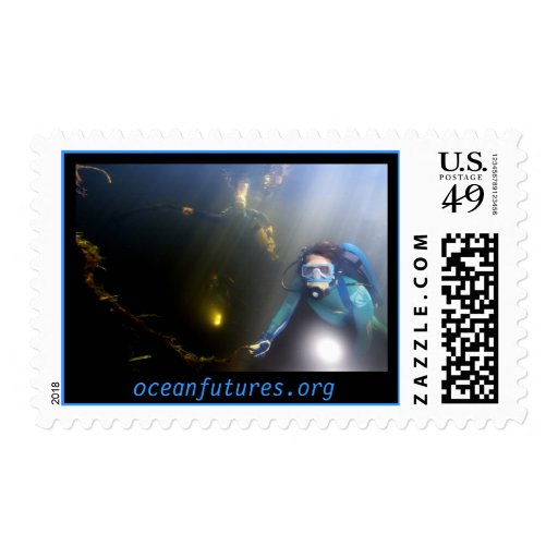Ocean Futures Society Dive Team Postage Stamp