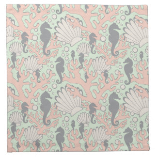Ocean Garden Seahorse Cloth Napkins