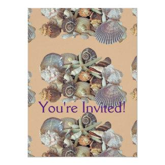 Ocean Gems Seashell Treasures in Magenta Card