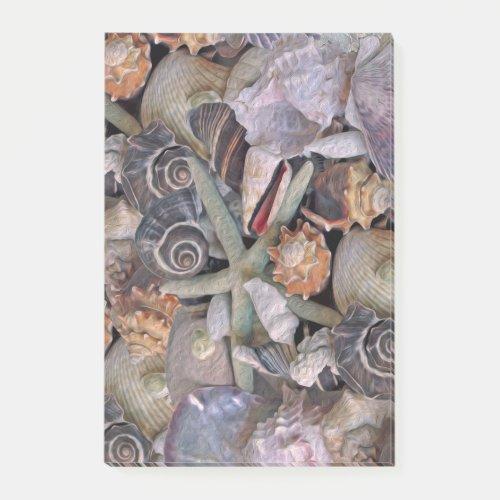 Ocean Gems Seashell Treasures in Magenta Post-it Notes