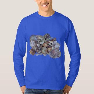 Ocean Gems Seashell Treasures in Magenta T-Shirt