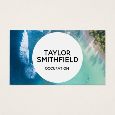 Professional Business ocean geometric trendy waves business card