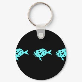 Ocean Glow_Aqua Blue Grouper keychain