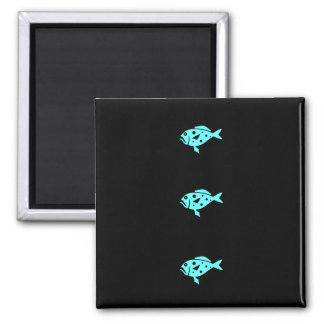 Ocean Glow_Aqua Blue Grouper Fridge Magnets