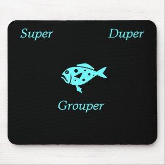 Ocean Glow_Aqua Blue Super-Duper-Grouper mousepad