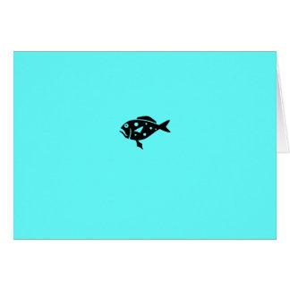 Ocean Glow_Black-on-Aqua Blue Grouper Card