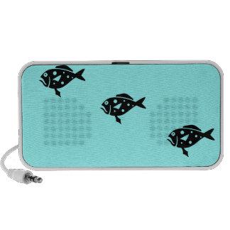 Ocean Glow_Black-on-Aqua_Group of Groupers Speaker