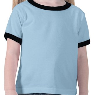Ocean Glow_Black-on-Blue Grouper front-back shirt
