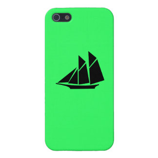 Ocean Glow_Black-on-Green Clipper Ship iPhone 5 Cover