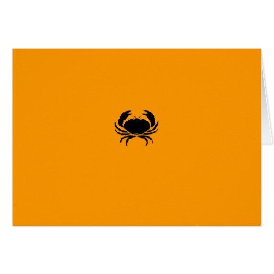 Ocean Glow_Black-on-Orange Crab Card