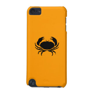Ocean Glow_Black on Orange Crab iPod Touch 5G Cover