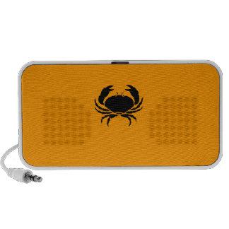 Ocean Glow_Black-on-Orange Crab custom speaker