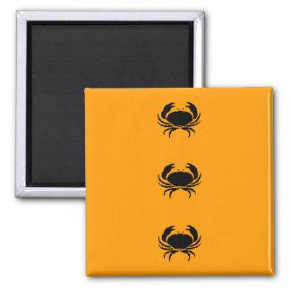 Ocean Glow_Black-on-Orange Crab Fridge Magnet