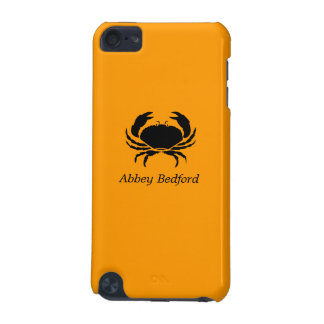 Ocean Glow_Black on Orange Crab_personalized iPod Touch 5G Case