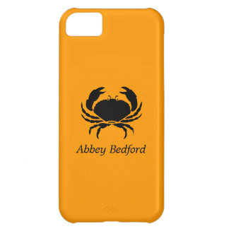 Ocean Glow_Black on Orange Crab_personalized Case For iPhone 5C