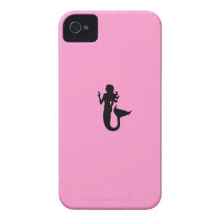 Ocean Glow_Black-on-Pink Mermaid Case-Mate iPhone 4 Cases