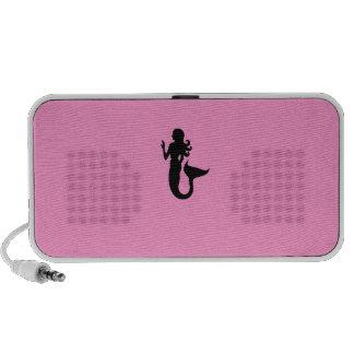 Ocean Glow_Black-on-Pink Mermaid custom Speaker