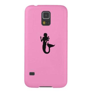 Ocean Glow_Black-on-Pink Mermaid Galaxy S5 Case